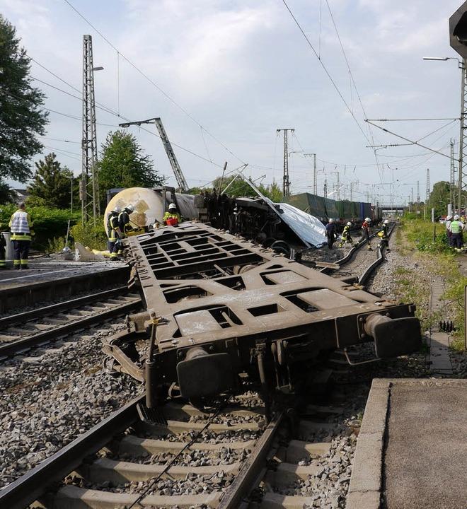 Nach dem Zugunglück in Müllheim forder...isiken beim Bau des 3. und 4. Gleises   | Foto: Katharina Meyer