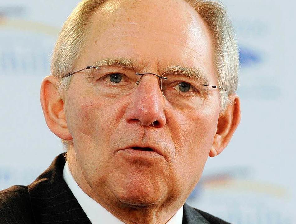 Wolfgang Schäuble war am Freitagabend zu Gast in Freiburg.  | Foto: dpa
