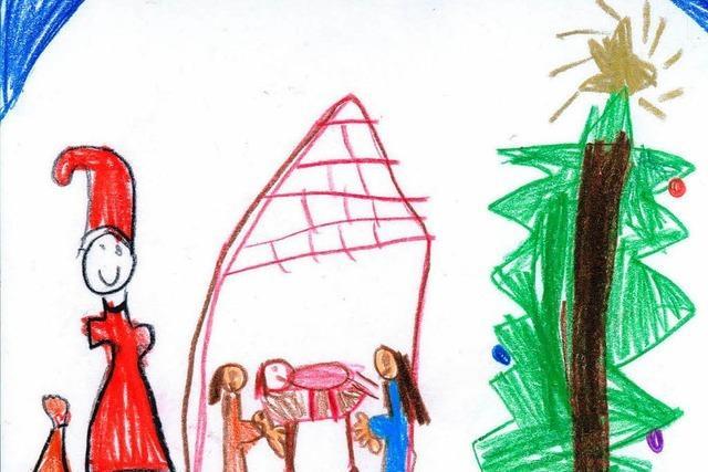 Die Weihnachtskarten-Malaktion