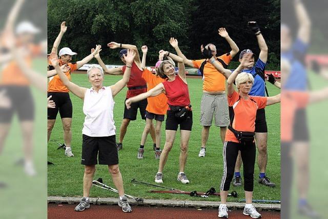 Nordic-Walking-Lauf ohne Zeitdruck