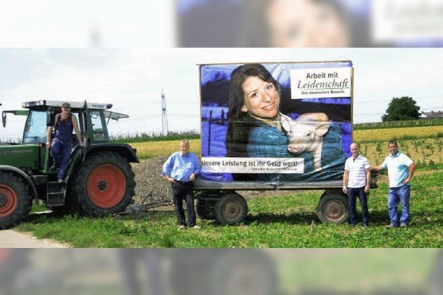 Landwirte machen auf ihre Arbeit aufmerksam