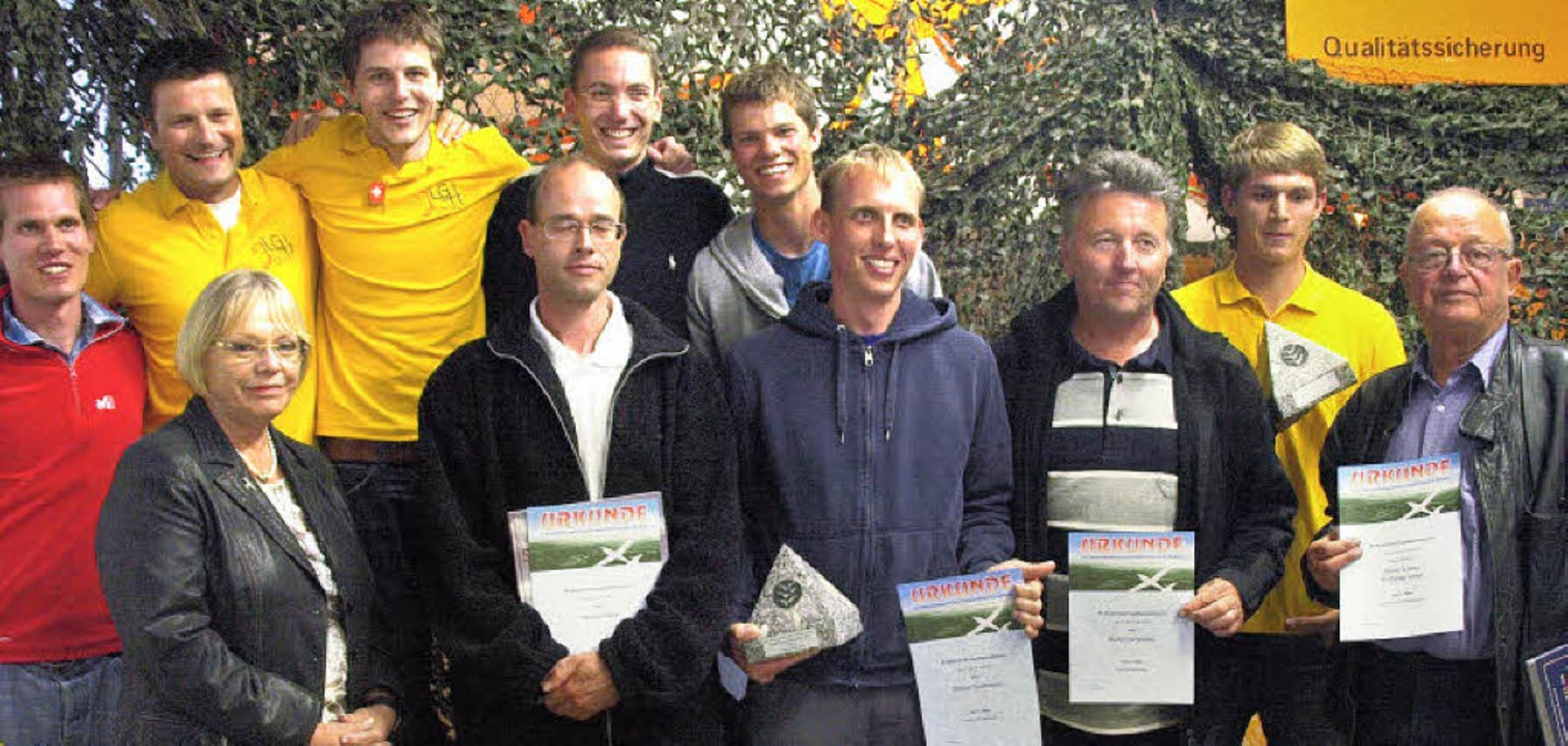 Wettbewerbsleiter Frieder Göltenbott (...illen, Simon Lorenz und Wolfgang Lange  | Foto: Karin Stöckl-Steinebrunner