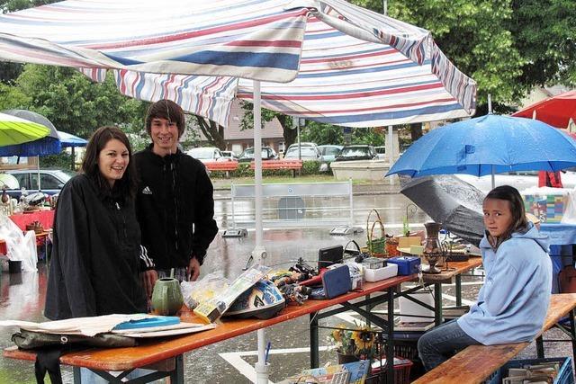 Schirme waren sehr gefragt