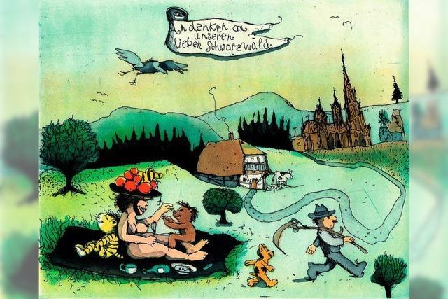 Der Künstler Janosch feiert seinen Geburtstag nachträglich in Freiburg