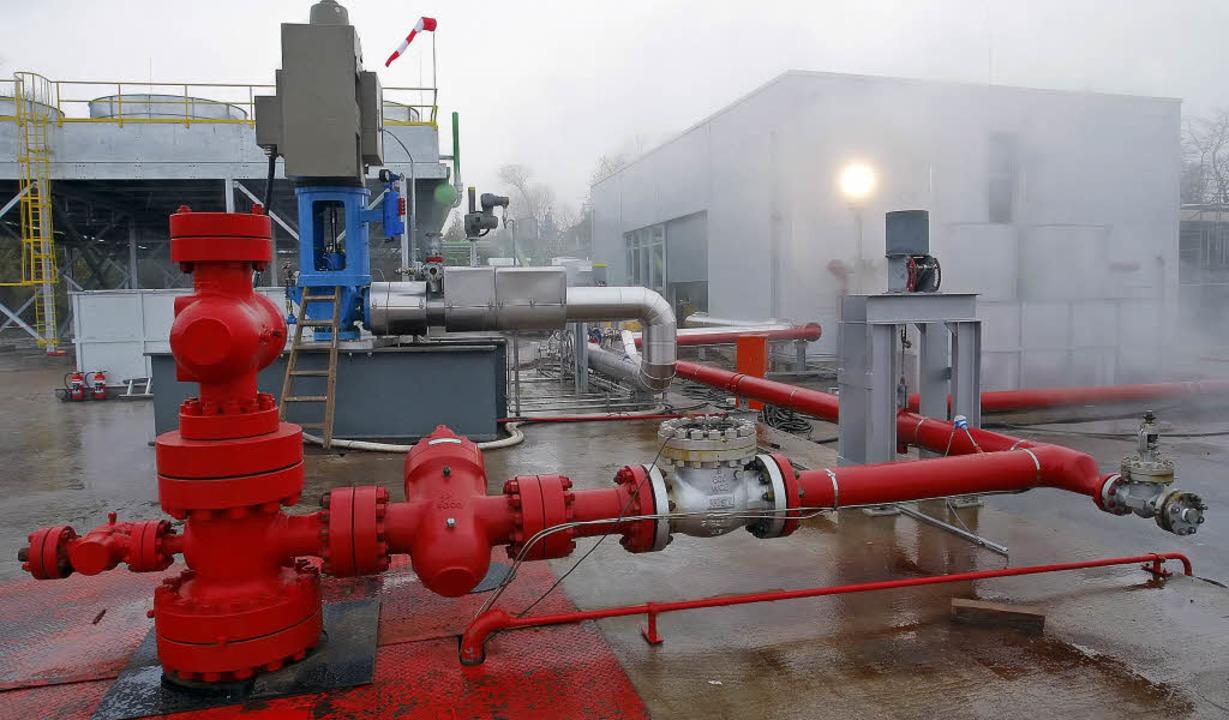 Nach leichteren  Erdbeben umstritten: ...thermiekraftwerk im pfälzischen Landau  | Foto: dpa
