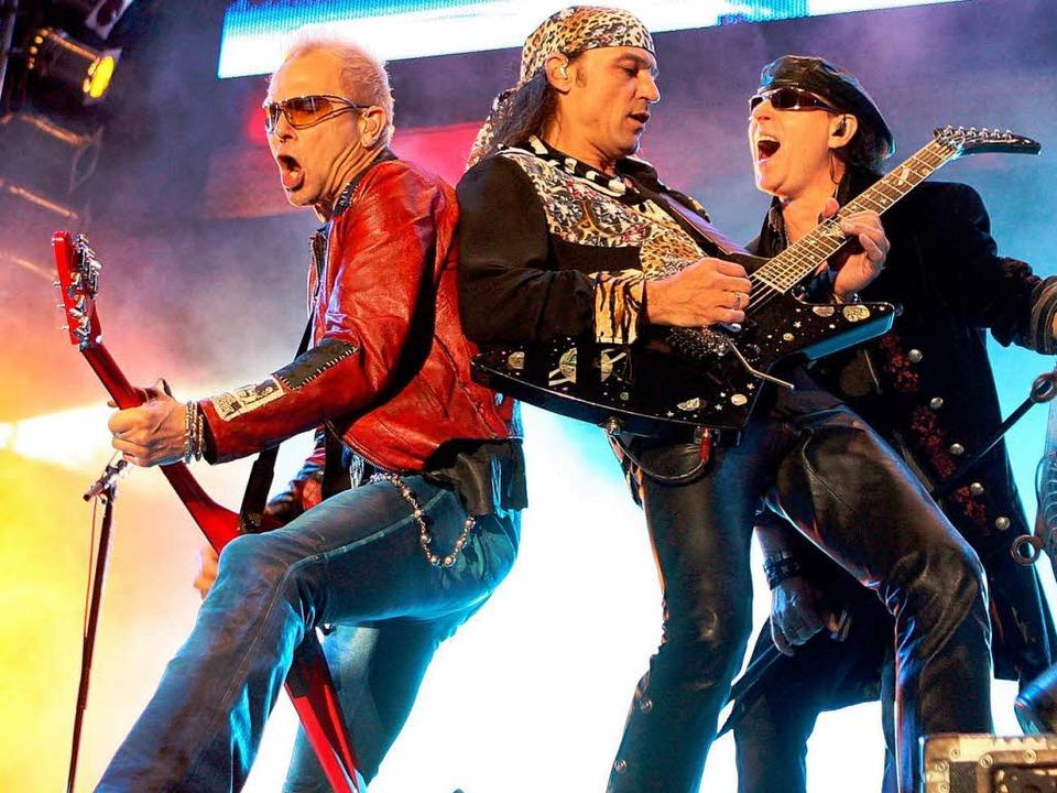 Die Scorpions – am Mittwoch treten sie in Freiburg auf.  | Foto: dpa