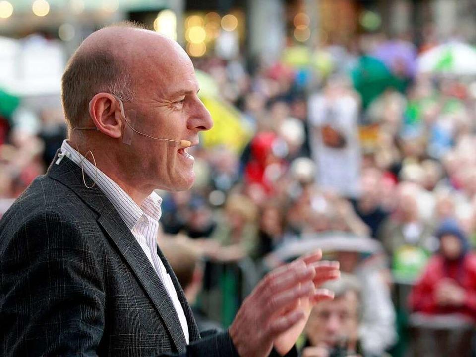 S21-Krawalle: Winfried Hermann stellt sich hinter die Polizei  | Foto: dapd