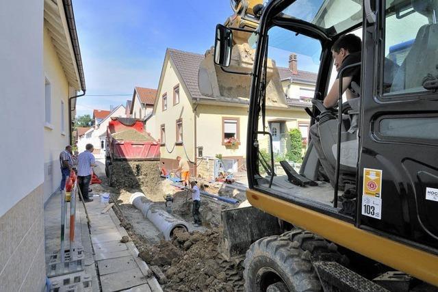 Die Bauarbeiten