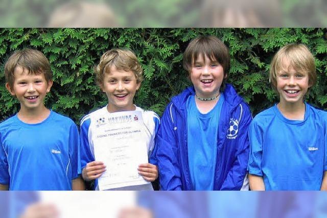 Sasbacher Grundschüler in Topform