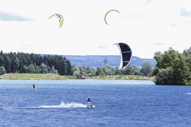 Kite-Surfen erobert die Riedseen auf der Baar