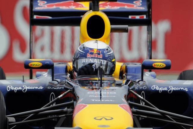 Vettel dreht Testrunden