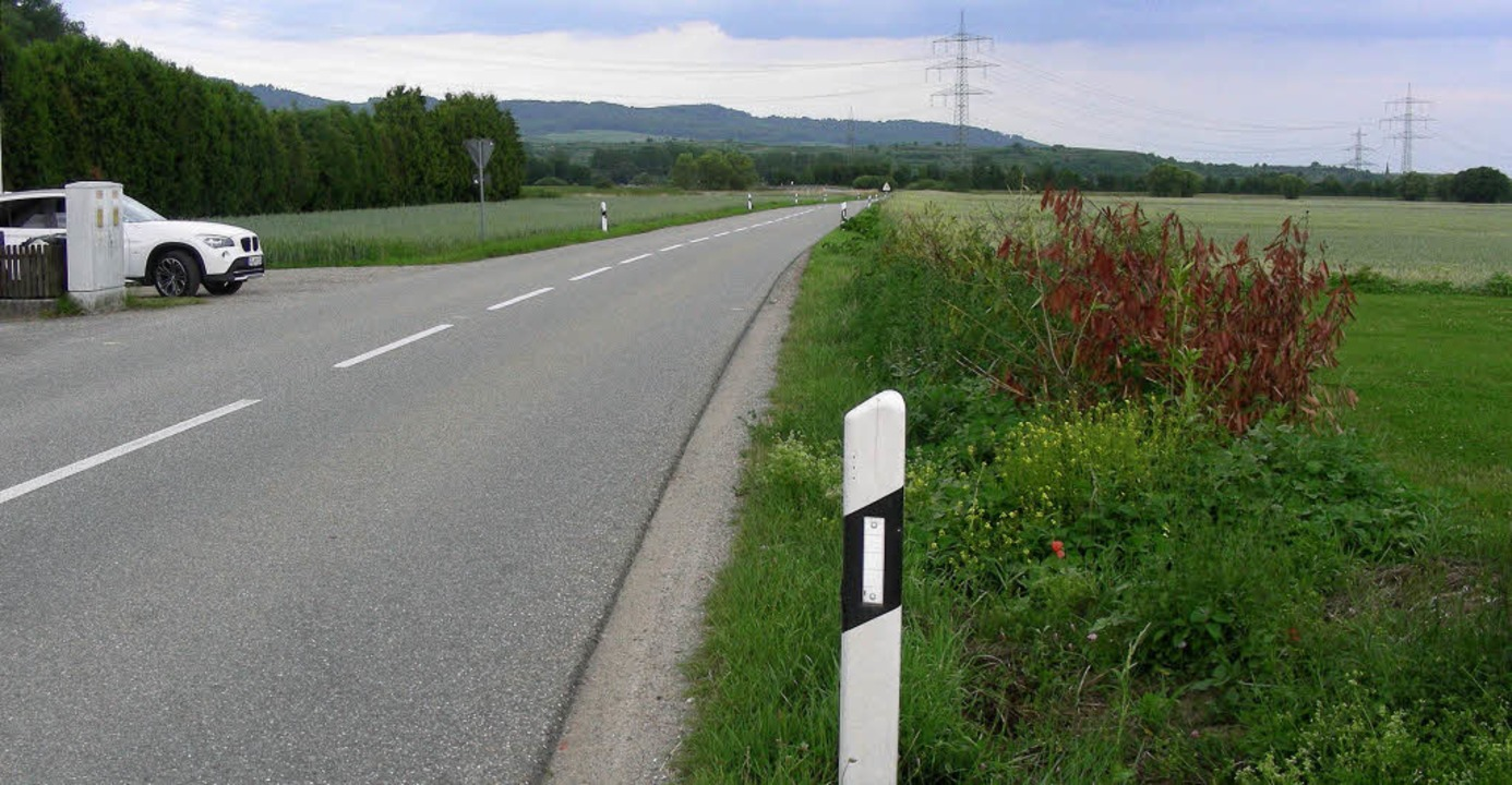 Die jetzige Landstraße von Neuershause...chstetten/Bötzingen gebaut sein wird.   | Foto: mario schöneberg