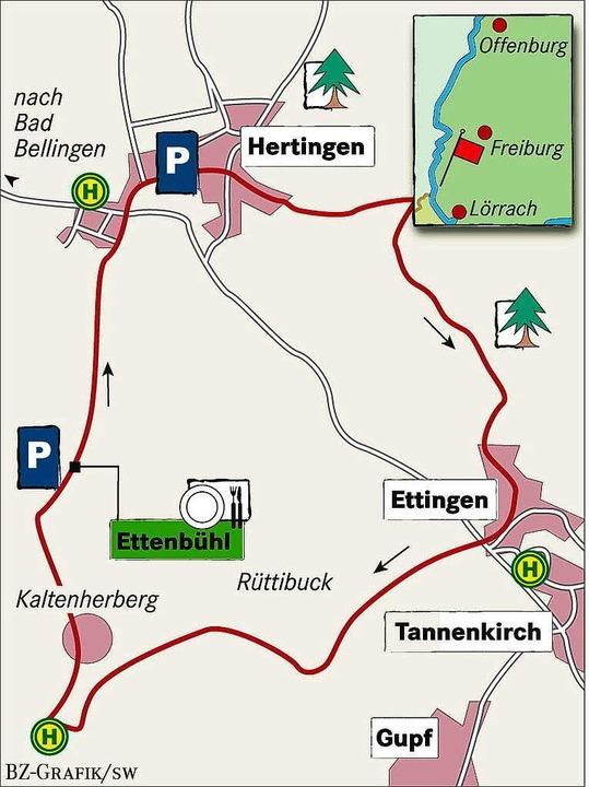 Karte: Landhaus Ettenbühl bei Bad Bellingen-Hertingen  | Foto: BZ