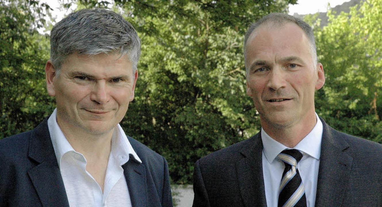 Gerhard Zimmermann (links), Geschäftsf...eiter, stellten  ihr Unternehmen vor.   | Foto: Ralf H. Dorweiler