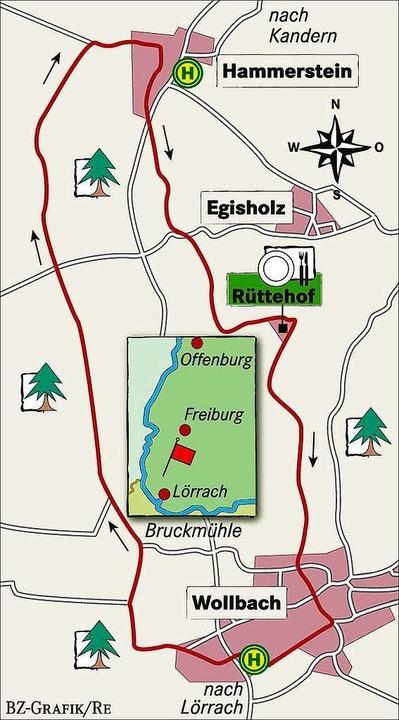 Karte: Rüttehof und Winzerstube bei Kandern-Wollbach  | Foto: BZ