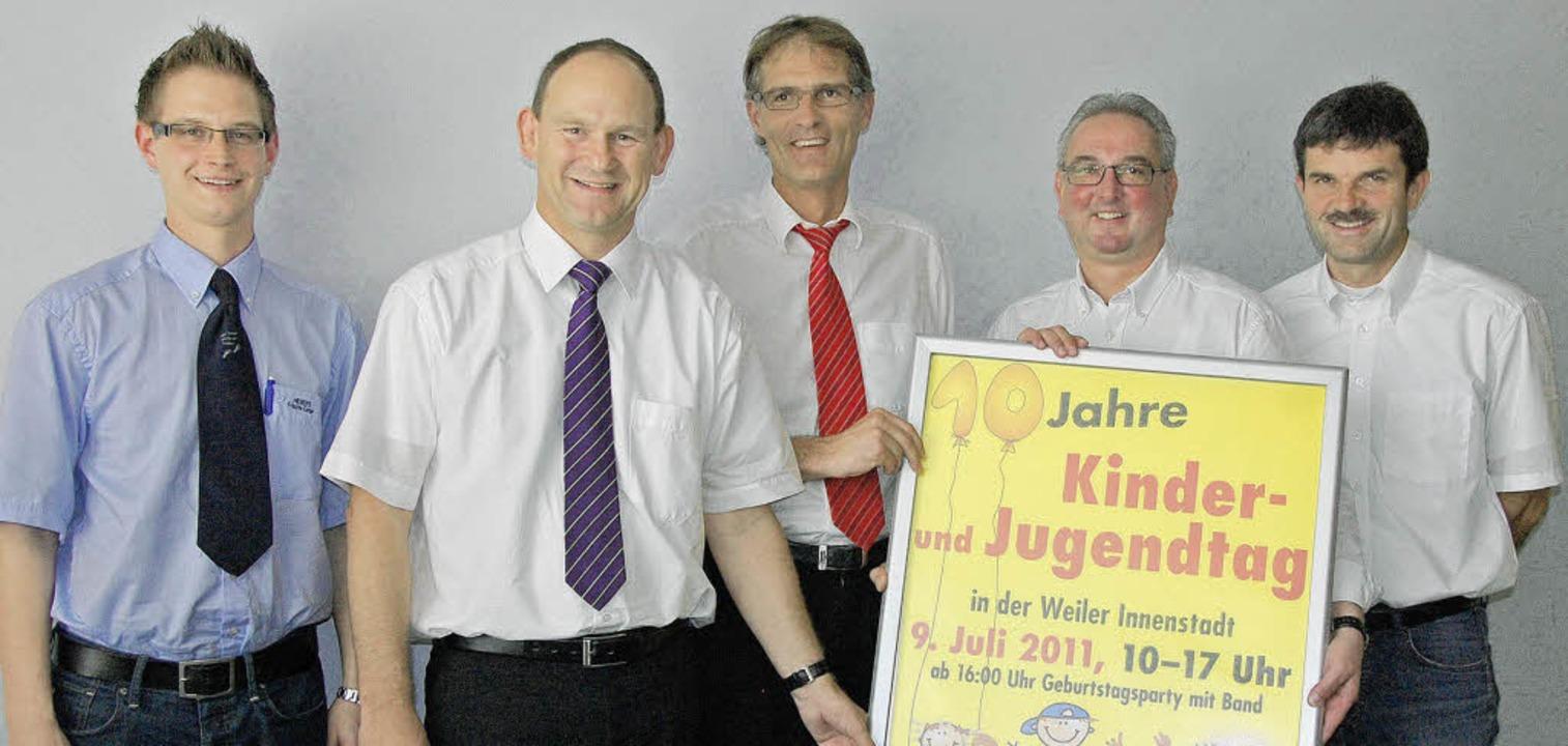 Sie pushen den Kindertag: Markus Langh...g) und Peter Krause (WWT, von links).   | Foto: Frey