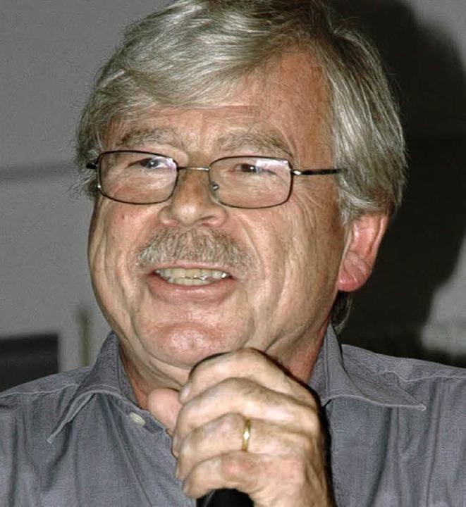 Klaus Brunner beim Vortrag     Foto: Wieschenkämper
