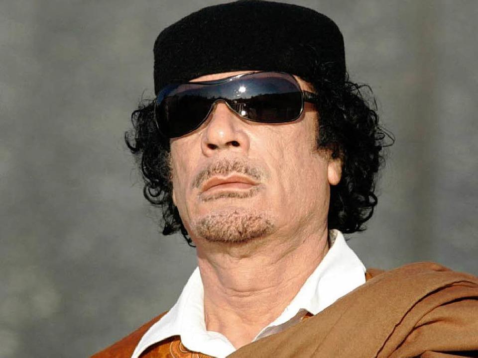 Muammar al-Gaddafi neigt zwar zu rheto... libyschen Machthabers durchaus ernst.  | Foto: dapd