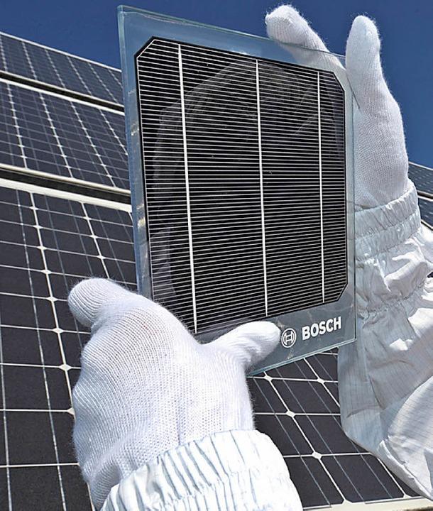 Können sie Griechenland aus der Bredou...lfen? Solarzellen zur Stromproduktion   | Foto: DPA