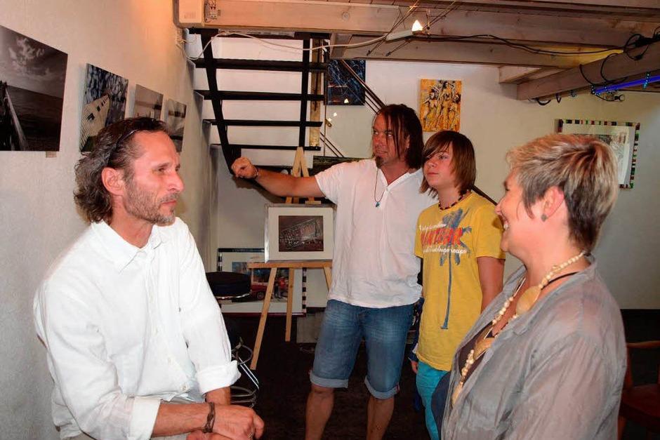 Künstlertage in Riegel, offenes Ateliers der Riegeler Künstler. Fotograf Hans-Peter Ziesmer (Foto: Michael Haberer)