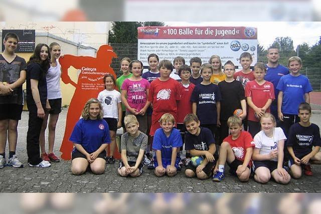Kleine Handballer zeigen großes Engagement
