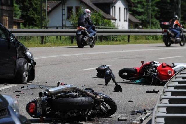 Motorradfahrer verunglückt im Höllental tödlich