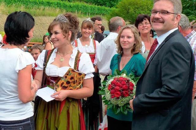 Endingen feiert seine Weinkönigin Natalie