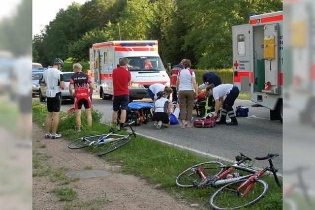 Radtour endet mit Unfall