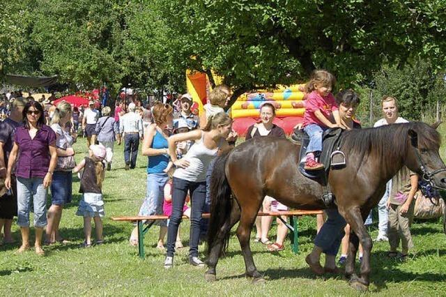 Fröhliches Kinderfest auf Pferderücken