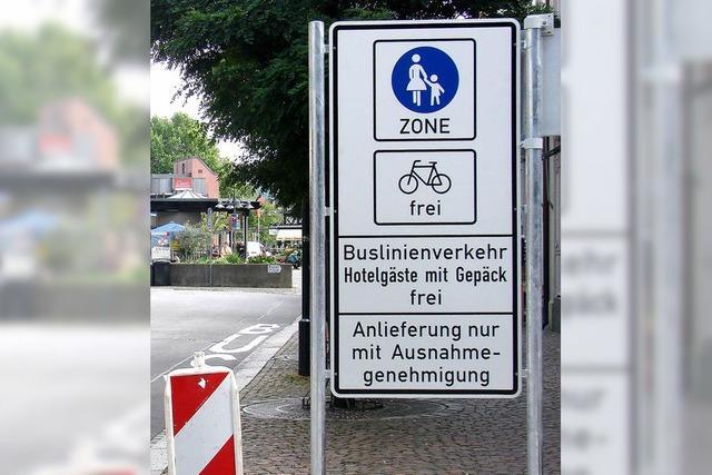 Fußgängerzone – das nächste Thema