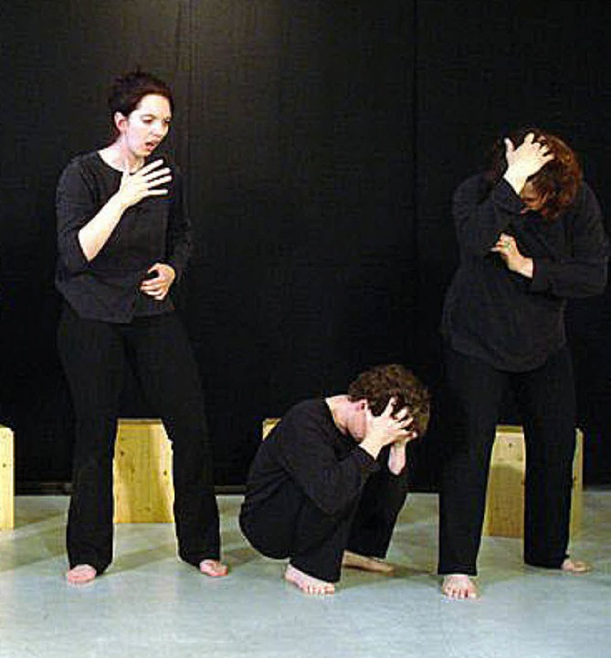 Wenn Menschen sich schämen: eine Szene mit dem Theater Blickwechsel   | Foto: pro