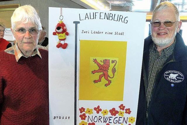 Werbung für Laufenburg auf hoher See