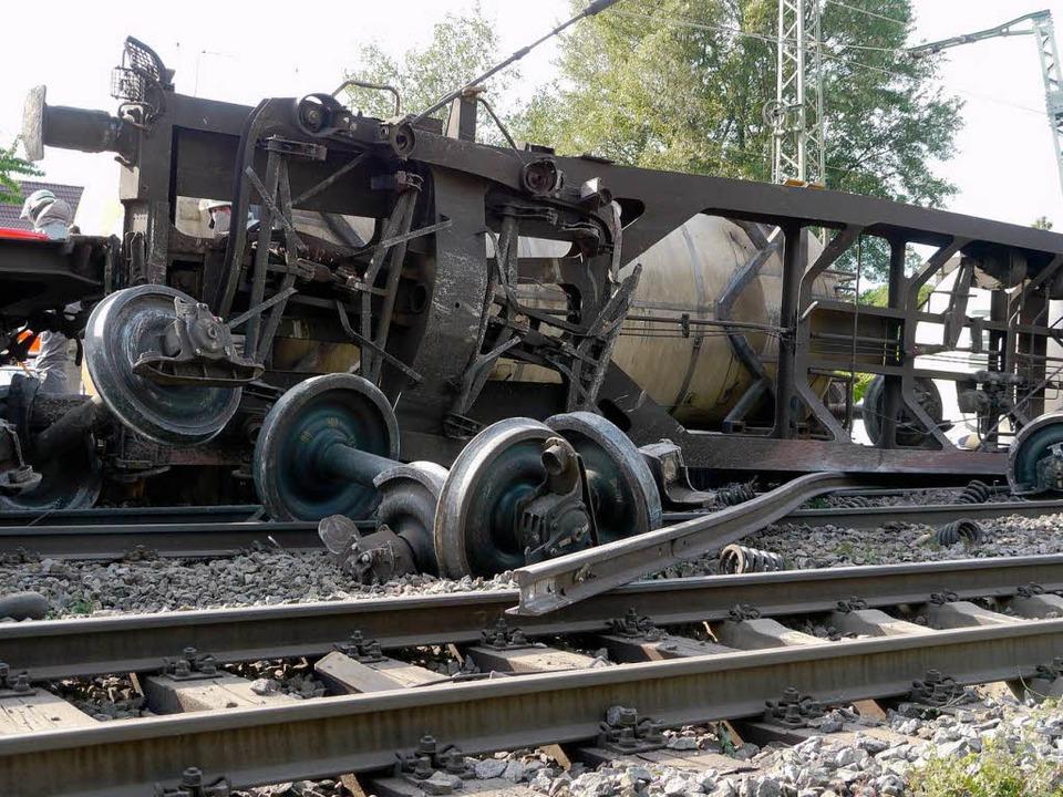 Eine gebrochene Achse hat wohl das Müllheimer Zugunglück vom 20. Mai ausgelöst.    Foto: Katharina Meyer