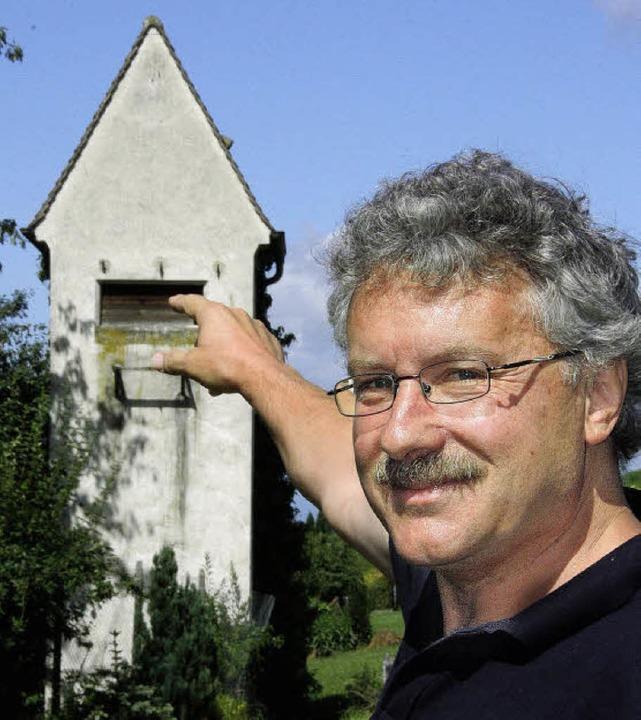 Fred Braun hat vor 20 Jahren angeregt,... als Schleiereulenstube einzurichten.   | Foto: Silvia Faller