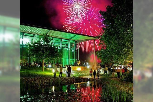 Feuerwerk krönt Sektfestival