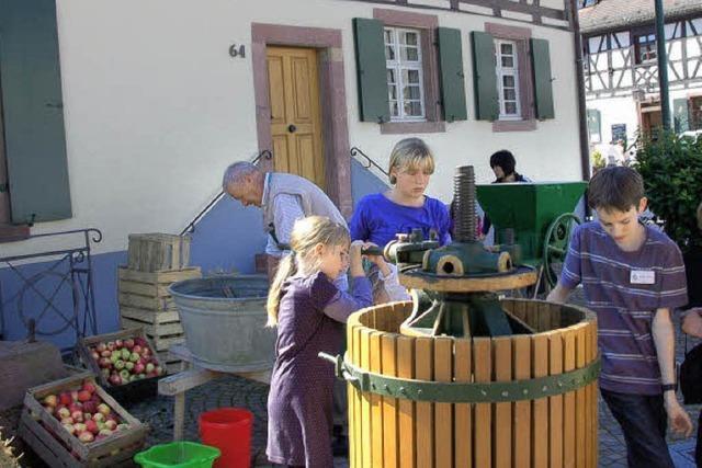 Ein Markt für Apfelsaft aus Vörstetter Streuobst