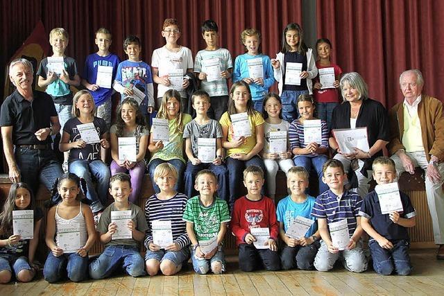 29 sportliche Grundschüler