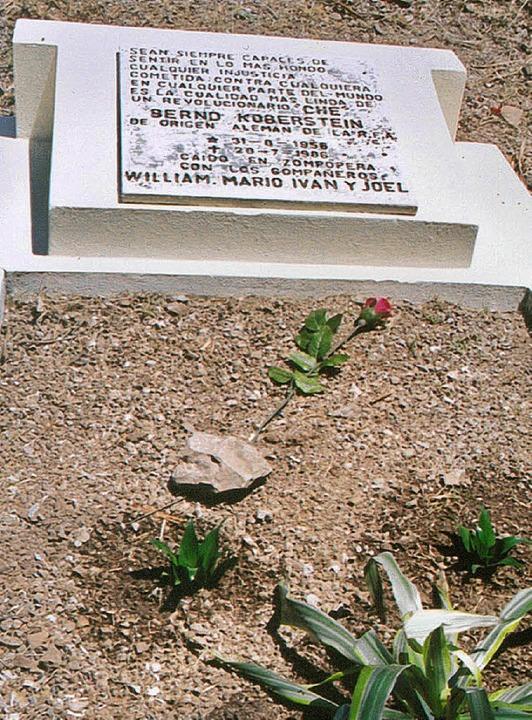 Das Grab Berndt Kobersteins auf dem Friedhof in Matagalpa in der Nähe von Wiwilí  | Foto: Gerhard Kirk