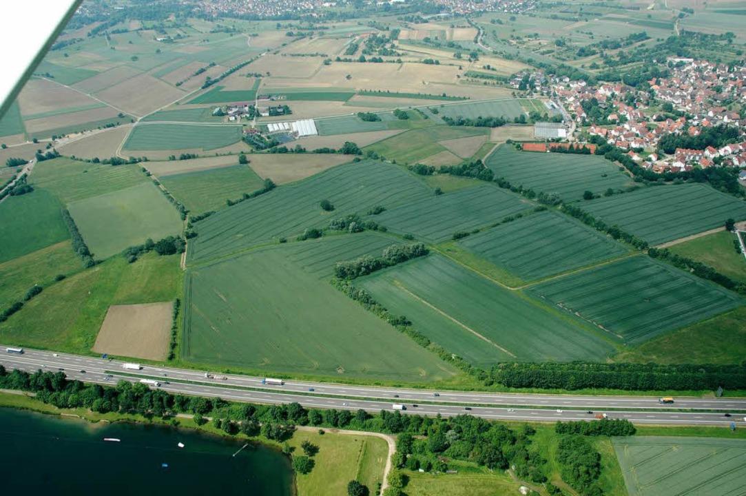Das Neufeld bei March-Holzhausen. Die ...dium einen Autobahnrasthof für die A5.  | Foto: Brigitte Sasse