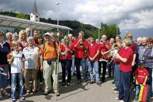 Pünktlich zum Dorffest die Pilgertour beendet
