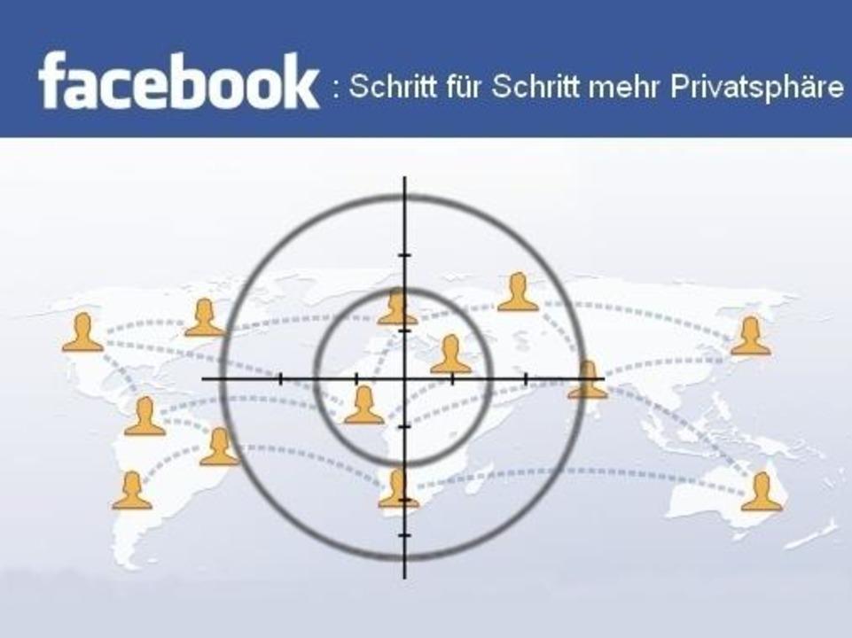 Facebook - Schritt für Schritt mehr Privatsphäre