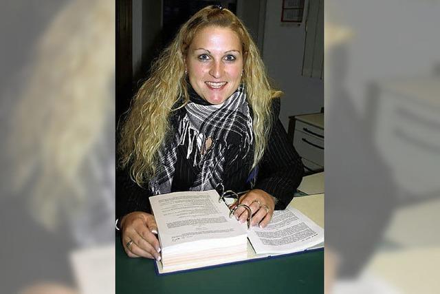 Sabine Lauby ist schon im Dienst