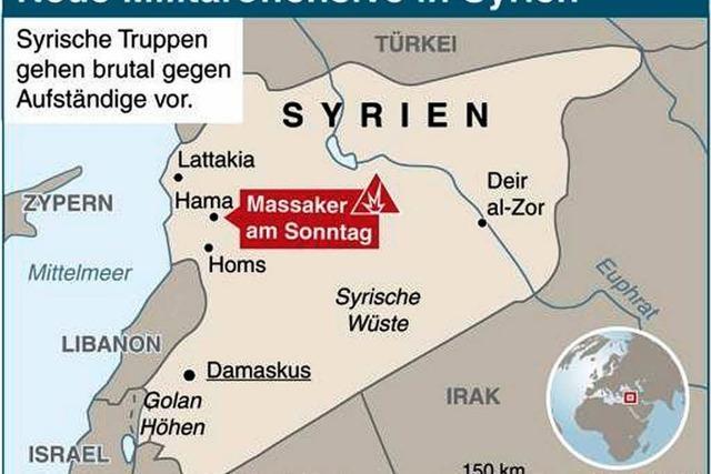 Neues Blutvergießen in Syrien: Panzer gegen den Widerstand