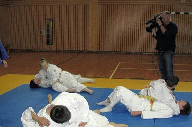 Judoka werden für ARD gefilmt