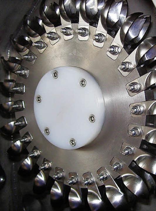 Über diese 24 Löffelchen wird die Pelt...sser elektrische Energie erzeugt wird.  | Foto: M. Lange