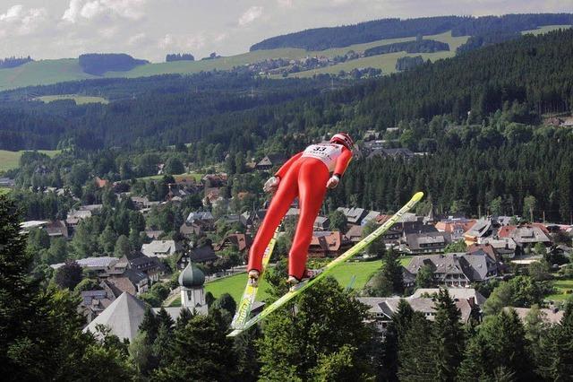 Hinterzarten - Hochburg des Sommerskispringens