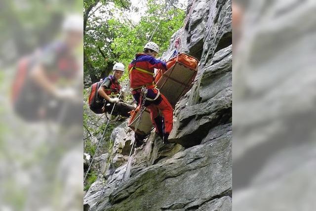Bergwacht probt Rettung mit Hindernissen