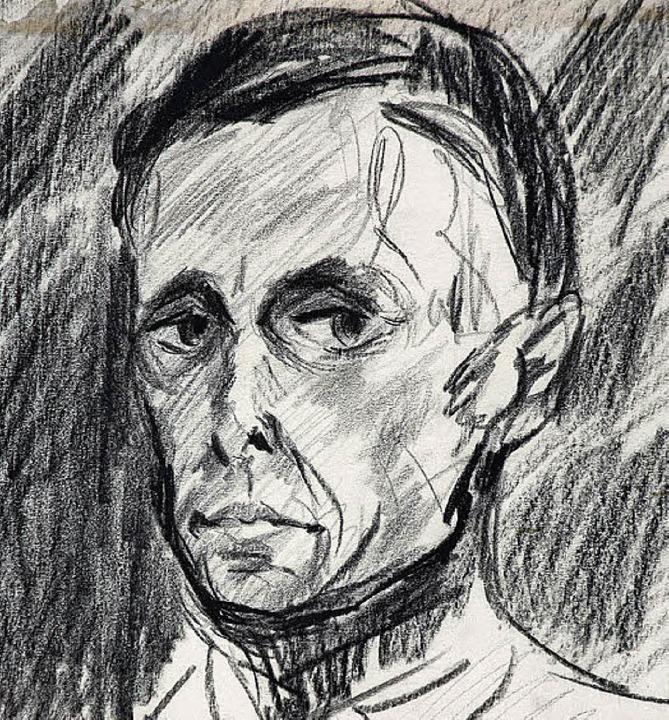 Emil Bizers Selbstporträt von 1916     Foto: Repro: BZ/Markgräfler Museum