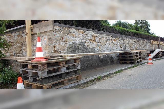 Werkhof saniert Mauer