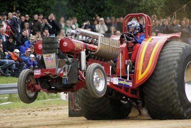 Traktorpower, die die Fans begeistert